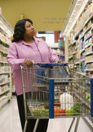 woman-grocery-shopping-cart